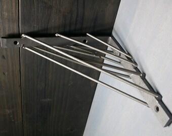 popular items for metal shelf brackets on etsy. Black Bedroom Furniture Sets. Home Design Ideas