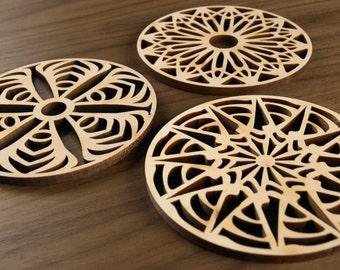 Hardwood Graphic Coasters - Primitive Series