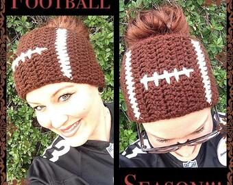 Crochet Football Ear Warmer--Perfect for Super Bowl
