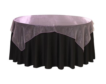 90 inch Square Organza Table Overlay Lavender | Wedding Table Overlays