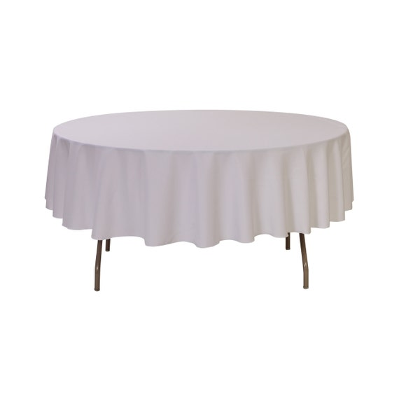 90 inch round polyester tablecloth white wedding tablecloths