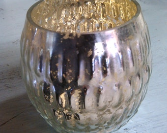 Mercury Glass Candle Holder, Votive