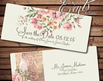 Wedding Save-the-Date Sample - vintage floral