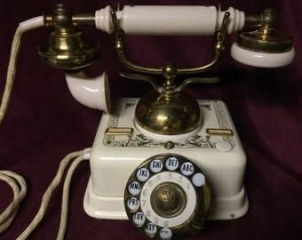 Vintage Rotary Phone - Aktieselskab Denmark  - WORKS