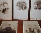 Antique Cabinet Card Photos of Families
