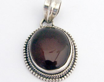 Brown Agate Pendant Sterling Silver