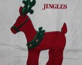 Cranston Jingles Reindeer Fabric Panel Cut n Sew