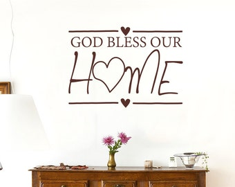 God Bless Our Home Wall Sticker