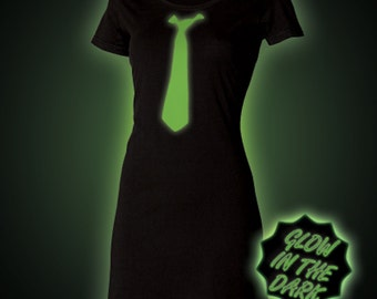 Glow in the dark Tie T-Shirt Dress