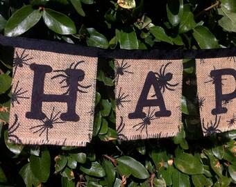 Burlap Halloween Banner