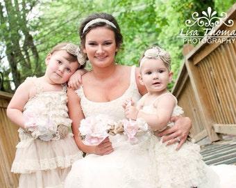 Fabric flower bouquet, burlap bouquet, wedding bouquet, fabric bouquet, bridesmaid bouquet, rustic bouquet, bridal bouquet, shabby bouquet