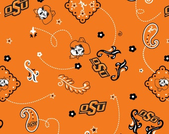 Oregon State Univerity Beavers Osu Cotton Fabric 1 Yard Sports Team 100 Cotton From