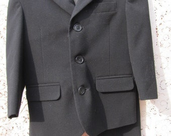Sale - Salel -Vintage Toddler's - Boy's Black Suit