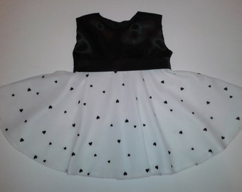 Full Circle Black Satin and Cream Chiffon Baby Dress