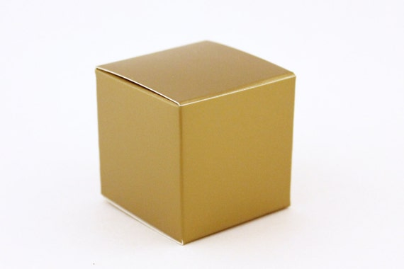 gold favor box small favor boxes 2x2x2 gold wedding favor boxes