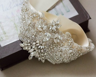 Bridal Belt Crystal, Wedding belts and sashes, Crystal Belts for Wedding, Beaded Belts - R05 (Made to Order)