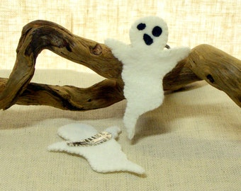 Ghost Hair Clip,  Wool Felt Halloween Hair Barrett *Ready to ship