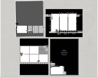 Sample Pack 17 - 8.5x11 Digital Scrapbooking Templates