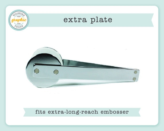 embosser plate extra plate to use with our extra long by. Black Bedroom Furniture Sets. Home Design Ideas