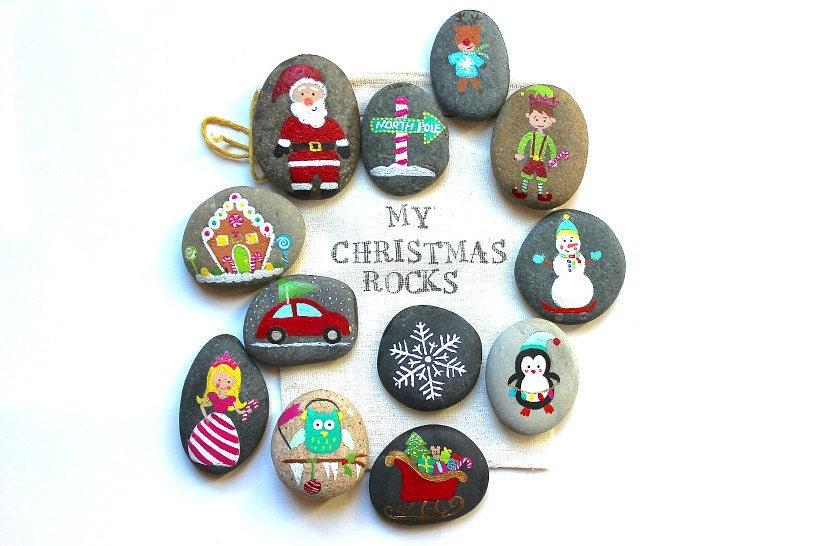 Christmas Story Stones And Painted Rocks Santa Gingerbread