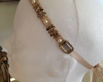 1920s Headband Gatsby Theme Wedding 1920s Art Deco Flapper Headdress
