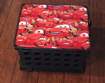 Cars inspired Crate seat--Crate Seat, Children's Storage