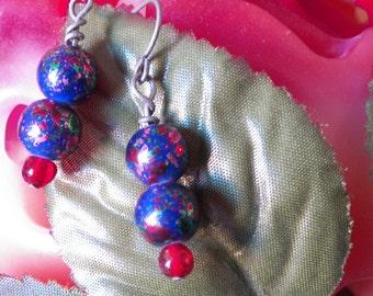 Beaded Earring (Wild Berry)