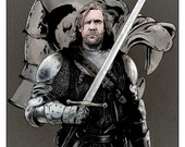 The Hound From Games of Thrones / Color Print