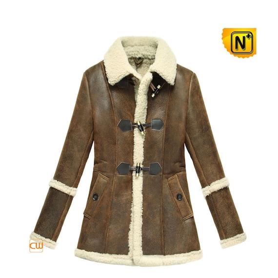 Women Brown Shearling Sheepskin Jacket CW614022