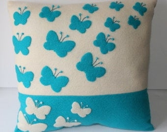 A Butteryfly Felt Cushion