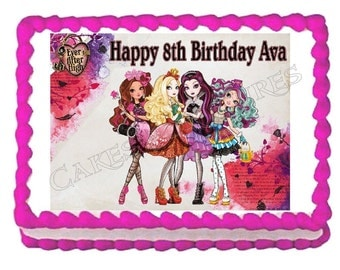 Ever After High EverAfter High edible cake image cake topper frosting sheet