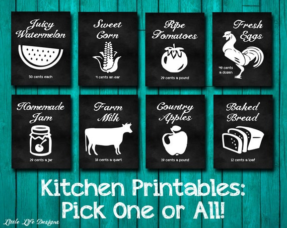Kitchen Decor Farm House Decor Farmers Market Signs Kitchen Wall Art Kitchen