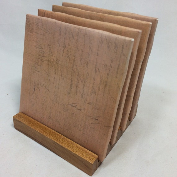 Handmade simple brown drink coasters set of four for Handmade drink coasters