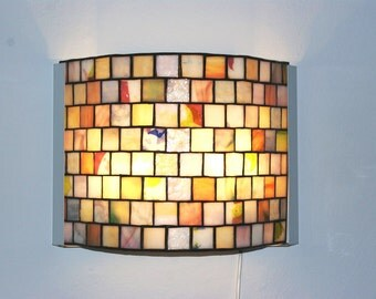 Wall Stained Glass Mosaic Glass Tiffany Lamp