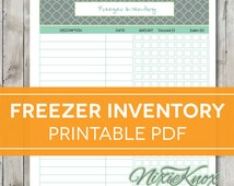 Freezer Inventory Printable - EDITABLE Meal Planning