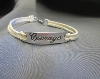 Courage Inspirational Suede Bracelet Unisex