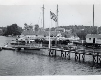 Vintage Photo ~ Boothbay Harbor Maine