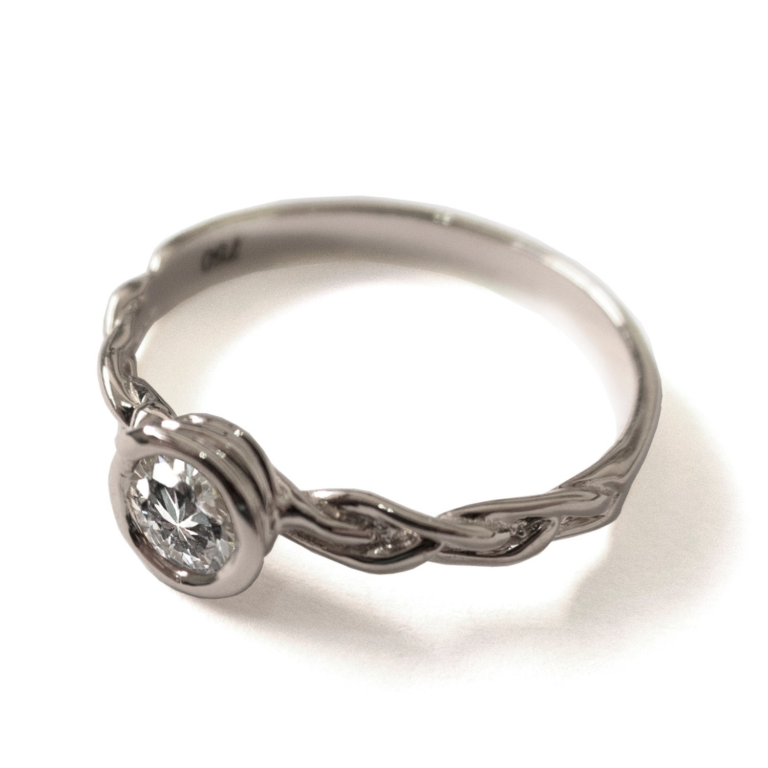 braided engagement ring 18k white gold and by