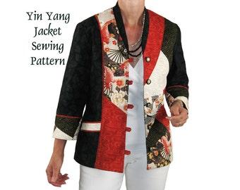 Yin Yang Jacket Sewing Pattern Wearable Art Jacket Pattern, BSS158