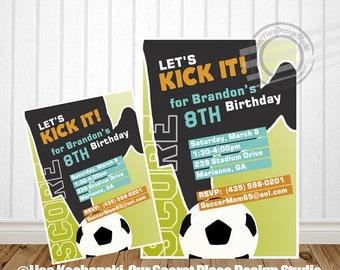 PRINTABLE Soccer Birthday Party Invitation Soccer Birthday Invite Sport Birthday Invitation Sport Birthday Invite Soccer Birthday Invitation