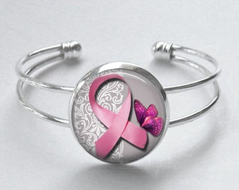 Breast Cancer Awareness Bracelet - Breast Cancer Awareness - Bracelet