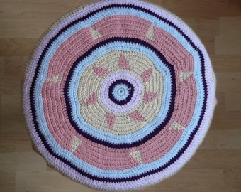 Djembe drum head cover ///Crochet top hat for jembe drum /// purple and pink hat for djembes ///