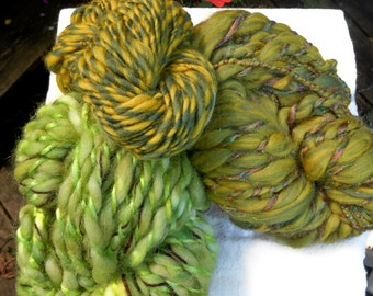 Art Yarn Hand Spun Wool Summer Solstice 159 yards