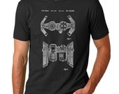 Star Wars TIE Bomber Patent T Shirt, Starwars Shirt, Star Wars Shirt, Star Wars Gifts, Star Wars Ships, PP102