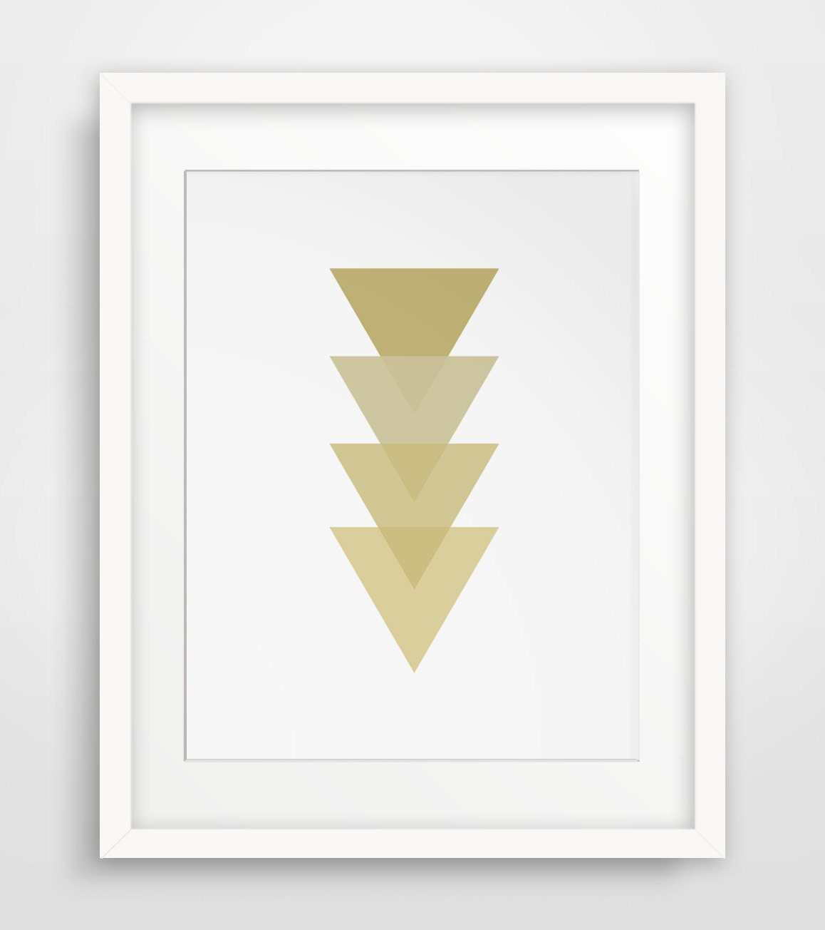 Wall Art Decor Gold : Gold geometric wall art decor