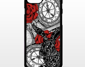 Alice in wonderland pocket watch white rabbit fine art pretty Phone case cover for Apple Iphone 6