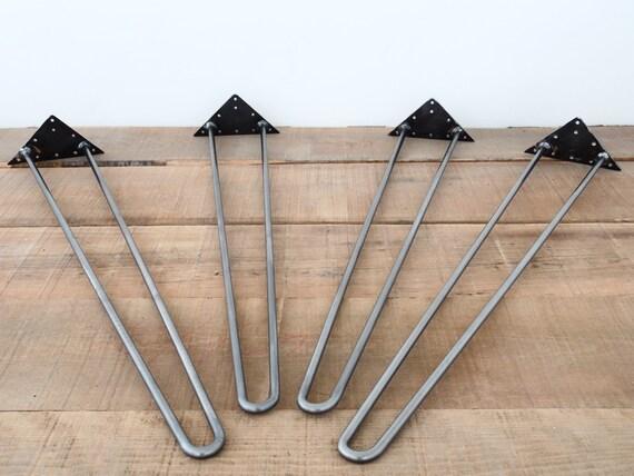 pieds de table en pingle cheveux 40 tige de 12 mm taille. Black Bedroom Furniture Sets. Home Design Ideas