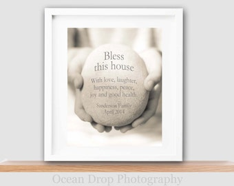 Bless this House Print, New Home Gift, Housewarming Gift, Personalized New Home Gift, Family Name Print, Personalized Housewarming Gift