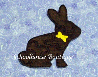 Bunny with bow Felt Puzzle - Logic Thinking Game -Easter Basket Filler - Stocking Stuffer - Preschool Puzzle - Soft Game-Sensory Toy