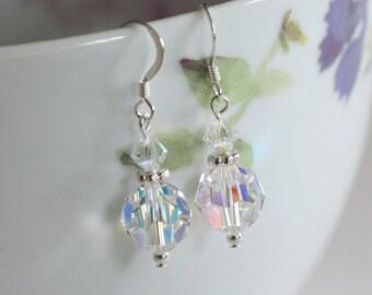 Swarovski Drop Earrings, Crystal Drop Earrings, Handmade Crystal Earrings, Handmade Earrings, Bridal Earrings, Wedding Earrings
